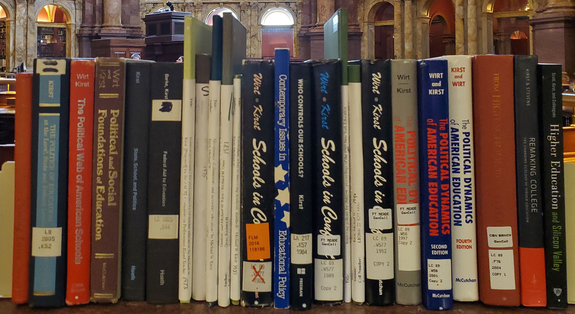 Book Collection of Stanford Professor Emeritus Mike Kirst Books Library of Congress